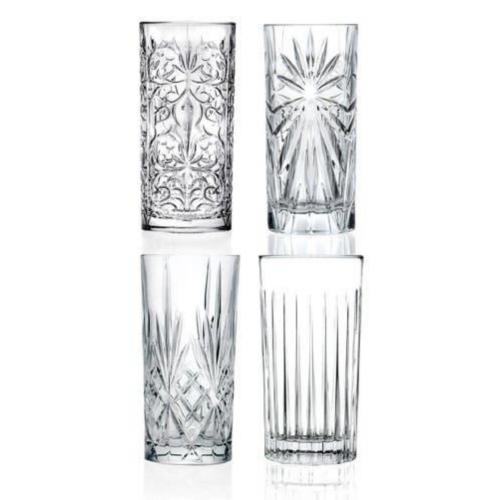 RCR Highball Tumblers Crystal Glasses Set, Crystal Cocktail Glasses, The Cocktail Shop, Australia